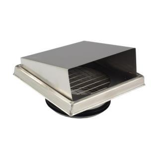 朴勒不锈钢方形外气口125(粗网)