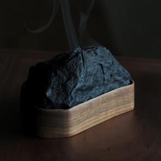 对山-望尘香炉(乌金石+黑胡桃)