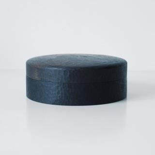 非花-刀纹圆茶盒